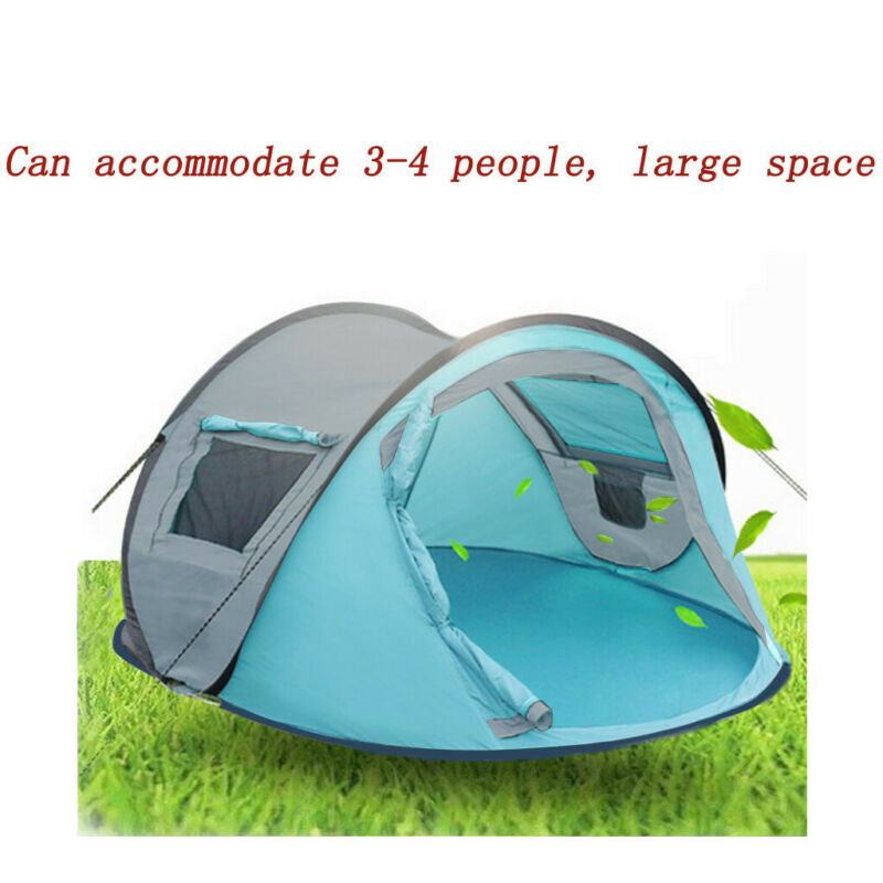 Pop-Up 2~4 Person Instant Tent Camping Outdoor Family Hiking