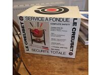 Complete Le Creuset Fondue Set boxed as new