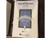 Choir Sheet Music SATB 4-part - Musicals Les Miserables and Chicago 100+ copies of all