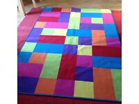 Large checkered rug by Colorama