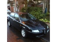 ALFA ROMEO 2003 1.9JTD LUSSO BLACK WITH LEATHER INTERIOR & LOW MILEAGE