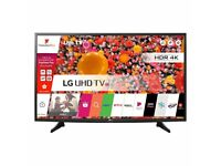 """(7 Months Old) LG 49UH610 49"""" Smart WiFi Built In Ultra HD 4K LED TV with Freeview Play - Perfect"""