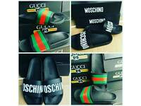 Moschino sliders slippers new all sizes