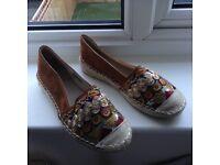 Ethnic espadrilles shoes