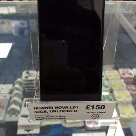 Used Huawei Nova L01 - Black and Silver - 32gb storage - Unlocked - can be swapped for old gadgets