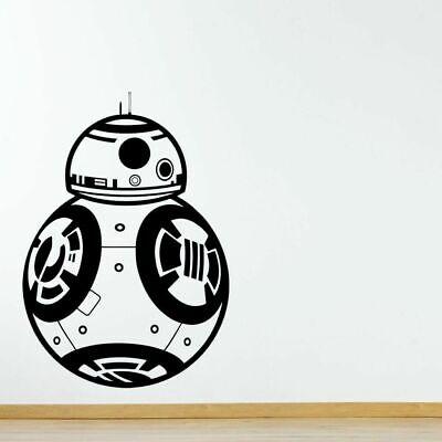 STAR WARS BB8 DROID Robot Movie Wall Art Vinyl Sticker Room Removable Decal DIY