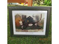 Rosina Wachtmeister cat print in frame Massimo gate della rocca