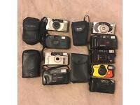 9 film cameras for sale!!! KODAK, FUJI, OLYMPUS...