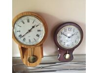 TWO WALL CLOCKS- BATTERY OPERATED