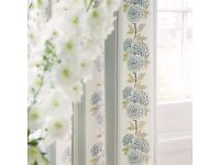 Blue floral Prestigious Textiles Designer Remnant Fabric for Curtains/ cushions/ upholstery/ sewing