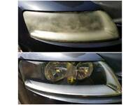 FROM £39.99 WITH 3 YEARS WARRANTY. PROFESSIONAL HEADLIGHT RESTORATION SERVICE