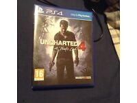 Unchartered 4 PS4 almost brand new !!!