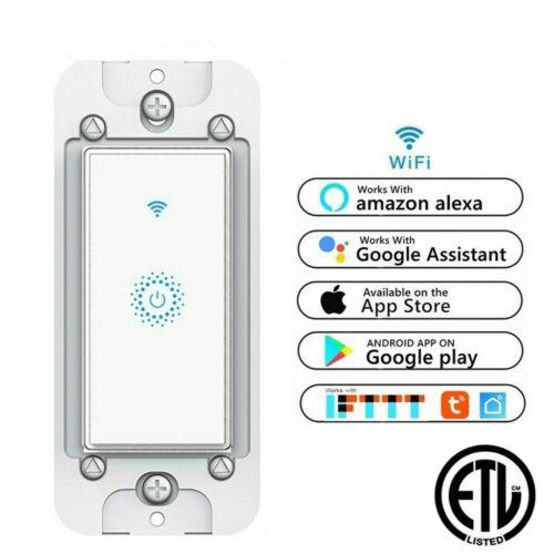 Nexete Smart Light Switch WiFi In-Wall Remote Alexa Google Smart Life app