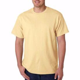 50 Gildan Ultra Yellow Haze 2XL T Shirts Brand New T Shirt Printing Shirts Overstock Bulk Clearance
