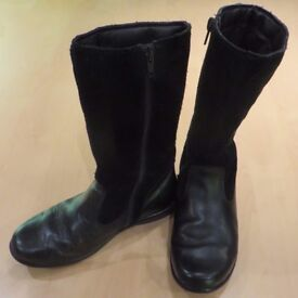 Clarks Leather boots - girls size 13F