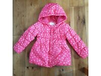 3-4 years GIRL WINTER COAT FROM MOTHERCARE (jacket)