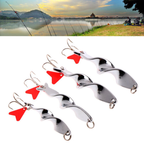 Tackle Rotate Bass Fishing Bait Crankbaits Fish Lure Hook Red Heart Spoon Gifts
