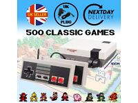Retro Mini Console. UK Plug. Brand New. 500 Classic Games. 2 Joypads. Brand New. 8 Bit NES Design