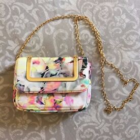 Pretty Ted Baker Small Floral Gold Chain Crossbody Clutch Bag Purse