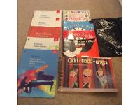 Various piano and flute books