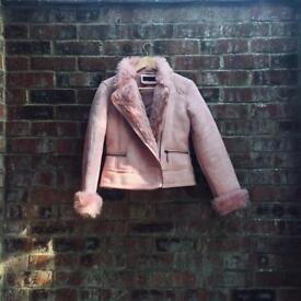 Genuine Playboy fluffy suede jacket