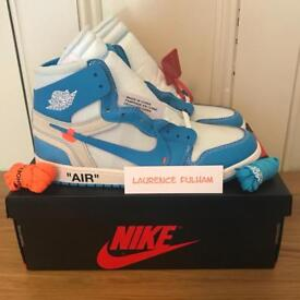 Off White x Nike Air Jordan 1 NRG UNC UK 9.5 & 10