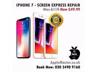 iPhone Screen Repairs - Express 30 Minutes - iPhone 7, 6, 6s, 5,5s,4s Plus + Quick Apple Fix Service