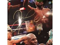 Floyd Mayweather jr signed boxing poster WITH COA