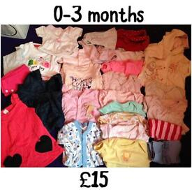 Used baby clothes