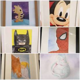 Personalised drawings for sale