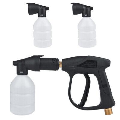 2x Car Washer Foam Gun Lances Cannon Nozzle High Pressure Set For Karcher