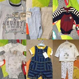 All brand new with tags boys newborn - 3 months clothing