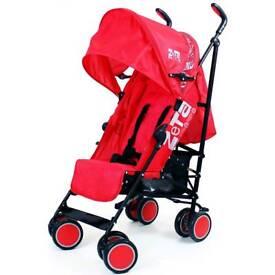 Red zeta city stroller
