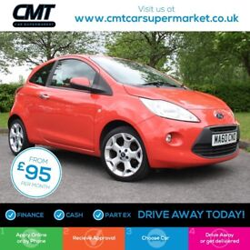 Ford KA 1.2 Titanium 3dr Good / Bad Credit Car Finance
