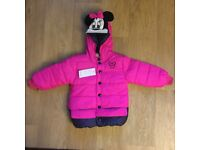 Neon pink Micky Mouse winter coat