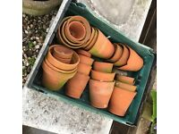 Hand made vintage pots hard to find these days very sort after £1 each or three for £2