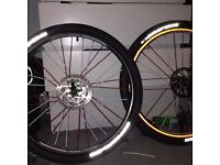 26inch Mountain bike wheels with slick tyres