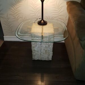 1 marble end 1 coffee table