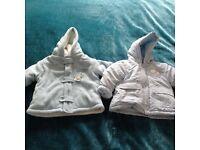 2 x 3-6 mths Coats - Pale Blue