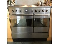 SMEG CC92MFX5 5 Burner Gas Hob & Electric Double Oven