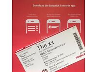 One ticket for The xx - SWG3 Galvanizers Yard, Glasgow on Wednesday, 30th August.