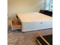 Sealy Ortho King Sized Divan Bed Base with 4 drawers