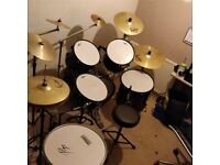 Drum set ideal for someone starting £200 can deliver for fuel lots of spares
