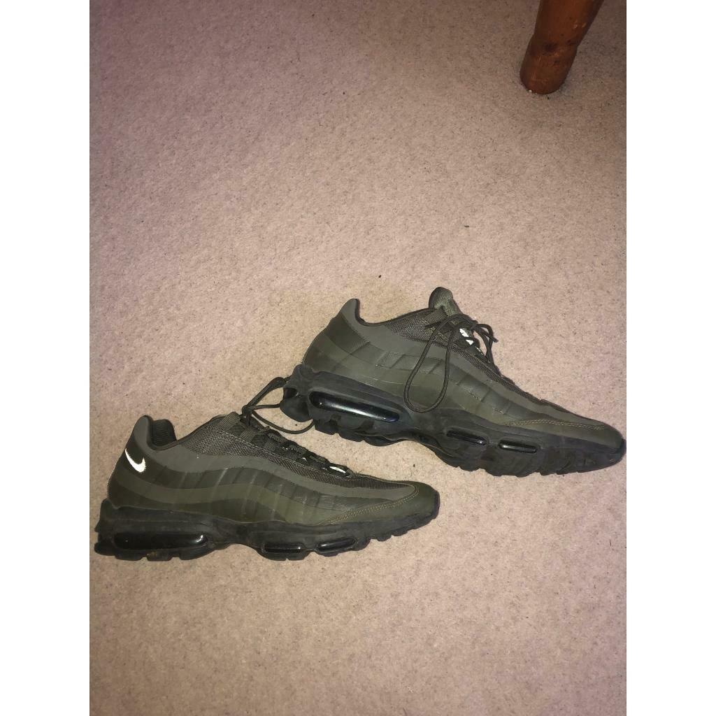 Men's Nike Air Max 95 HAL Black Cargo Khaki AH8444 001 Boys Running Shoes NIKE005350