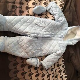 Baby boy snowsuit light blue 6-9 months