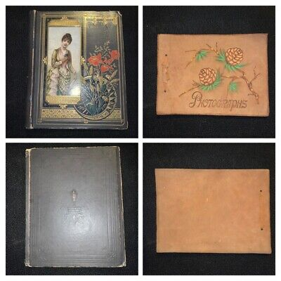 Victorian Scrapbook Tradecards Christmas Diecuts Holiday Pinecone Photo Album