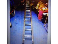 wooden double extending ladders