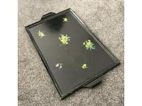 Black Wooden Serving Tray