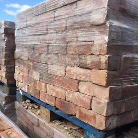 Old Reclaimed Imperial Brick - Vintage Imperial Red Bricks - CLEANED READY TO USE - 3500+ Available