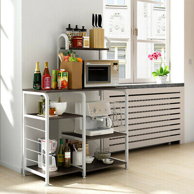 Metal 3 Tier Stand (3-Tier Microwave Oven Cart Bakers Rack Kitchen Storage Shelves Stand Metal)